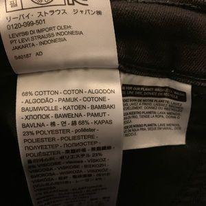 Levi's Jeans - BLACK LEVI SKINNY JEANS
